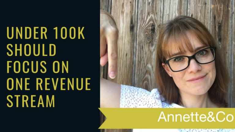 Under 100k should focus on one revenue stream