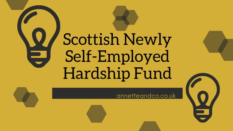 Scottish Newly Self-Employed Hardship Fund