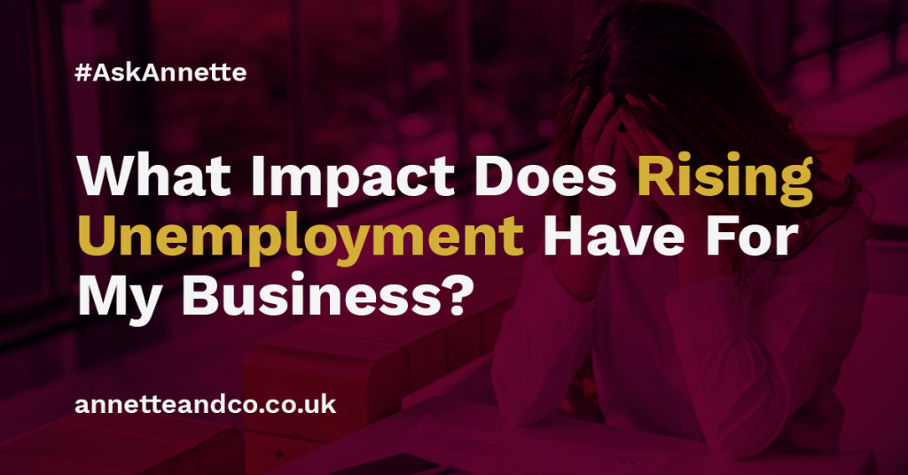 Unemployment rate rising topic for a featured blog image