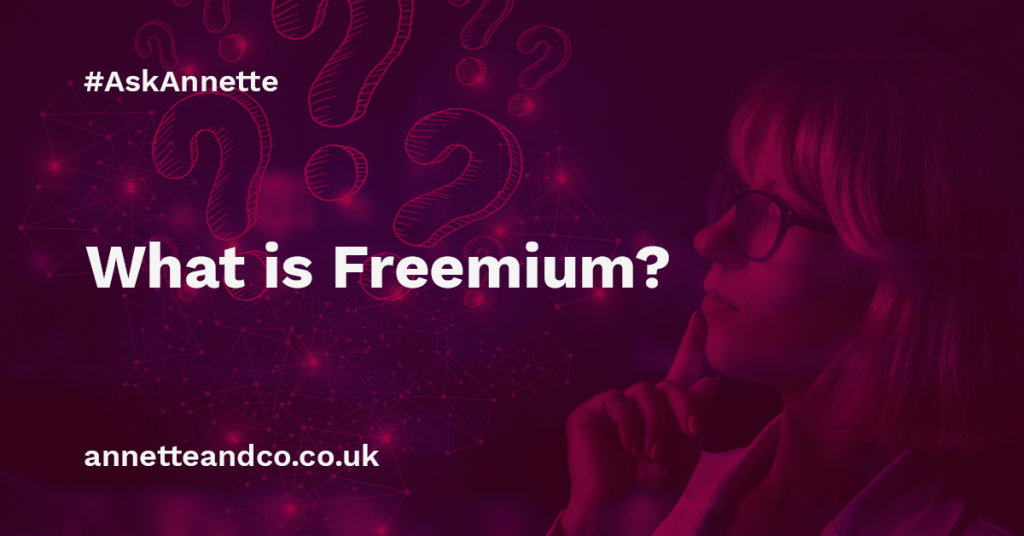 a featured image of a blog post that highlights the topic What is Freemium