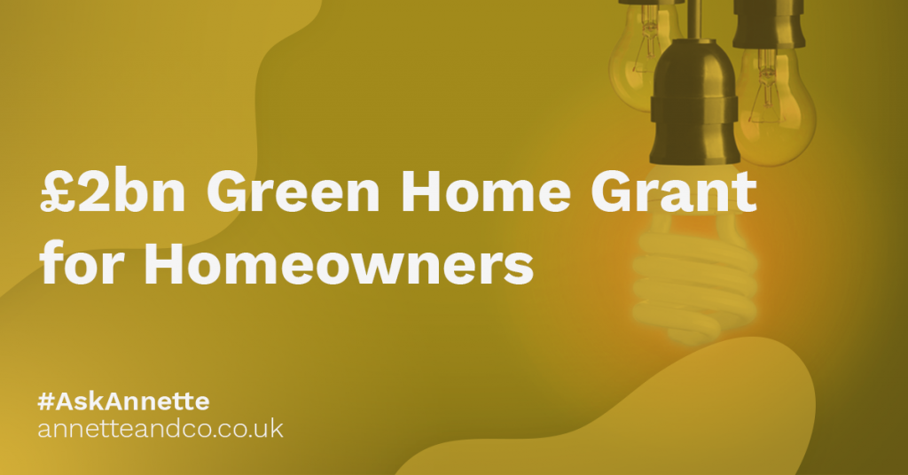 a featured image of a blog post that highlights the topic £2bn Green Home Grant for Homeowners