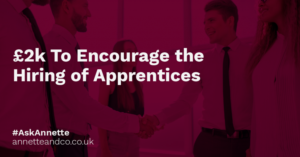 a featured image of a blog post that highlights the topic £2k To Encourage the Hiring of Apprentices