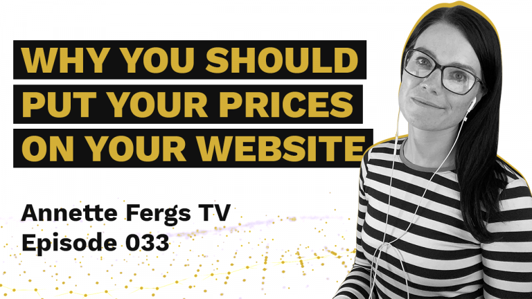 a featured image on a blog post entitled why you should put your prices on your website