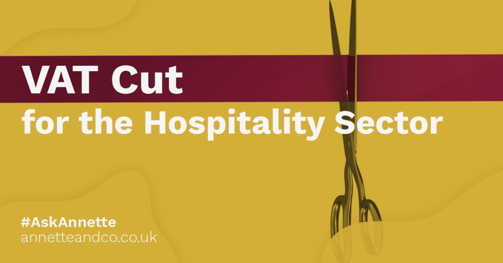 a featured image of a blog post that highlights the topic VAT Cut for the Hospitality Sector