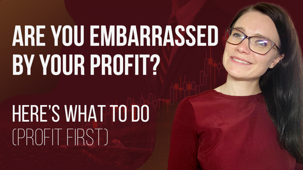 a blog featured image banner entitled are you embarrassed by your profit