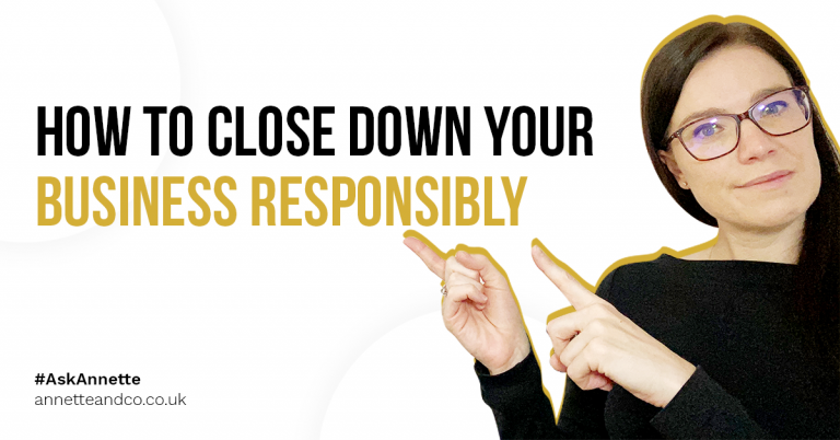 a blog featured image entitled how to close down your business responsibly