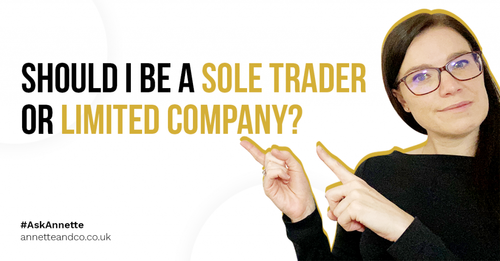 a blog featured image banner entitled should i be a sole trader or limited company