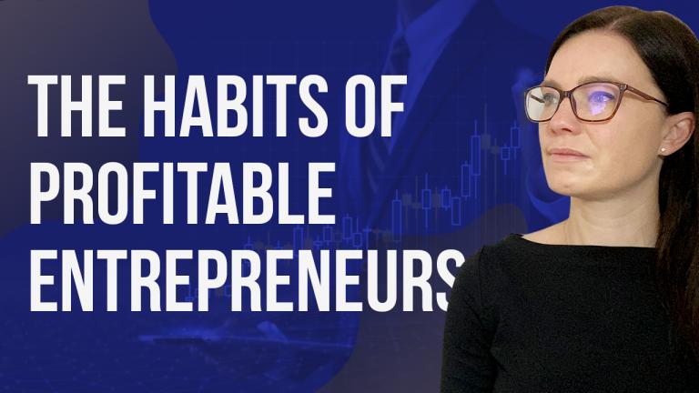 a blog featured image banner entitled the habits of profitable entrepreneurs