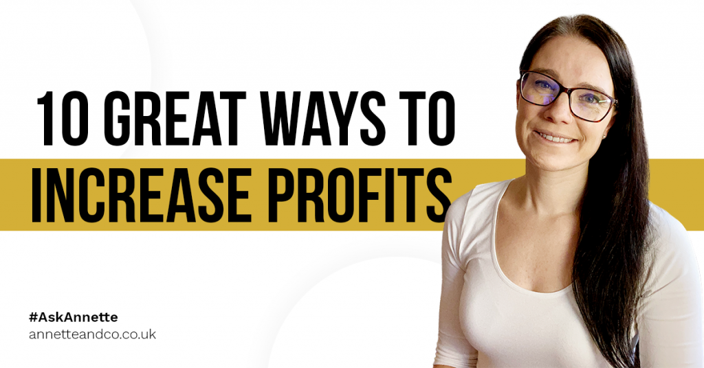 a blog featured image entitled 10 Great Ways to Increase Profits