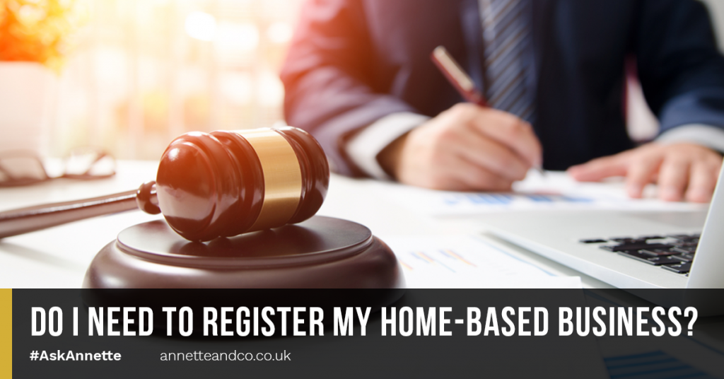 a blog featured image entitled Do I Need to Register My Home-Based Business
