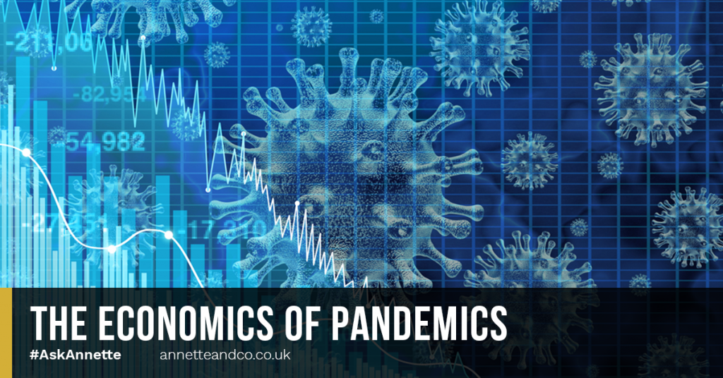 a blog featured image entitled The Economics of Pandemics
