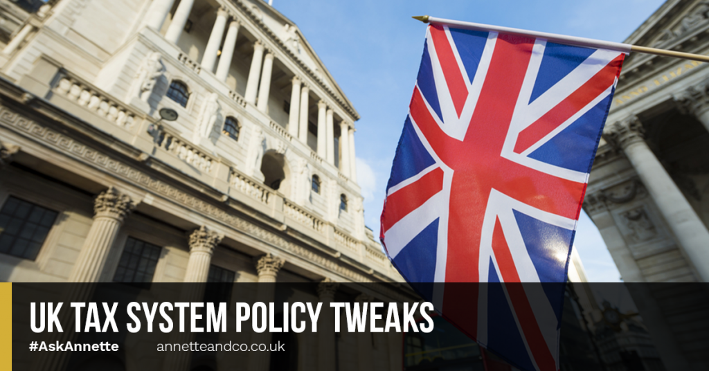 a blog featured image entitled UK Tax System Policy Tweaks