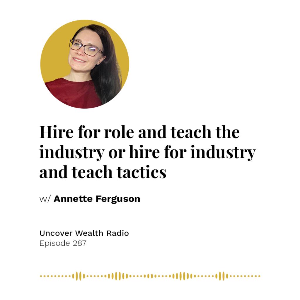 Annette Ferguson Podcast Banner - UWR 287
