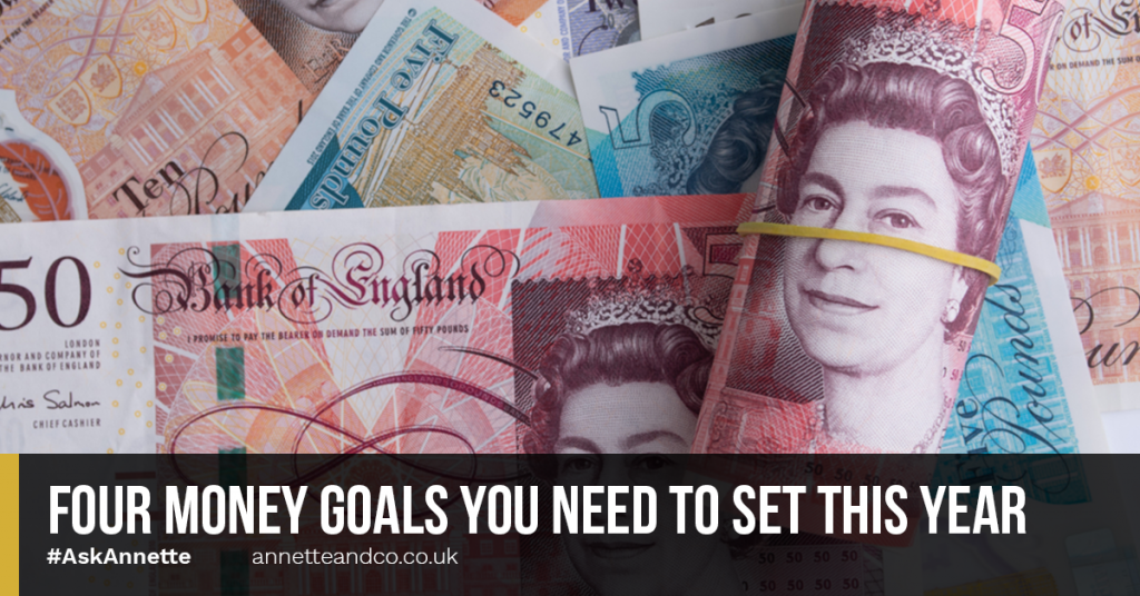 a blog featured image that talks about Four Money Goals You Need to Set This Year