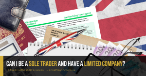 a blog featured image entitled Can I Be a Sole Trader and Have a Limited Company?