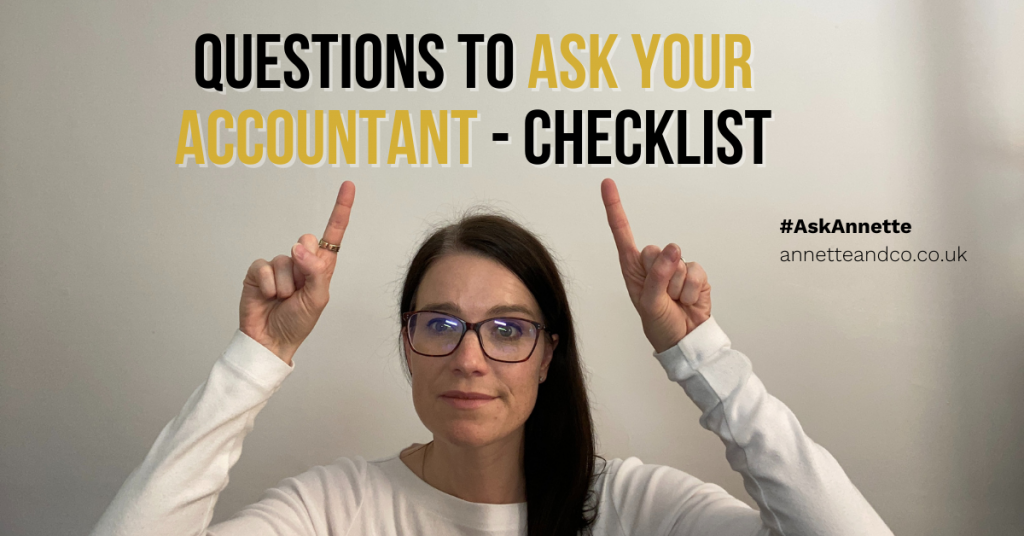 a blog featured image entitled Questions To Ask Your Accountant - Checklist