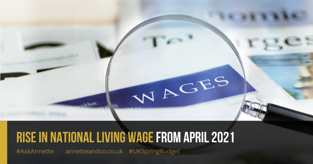 Rise in National Living wage from April 2021
