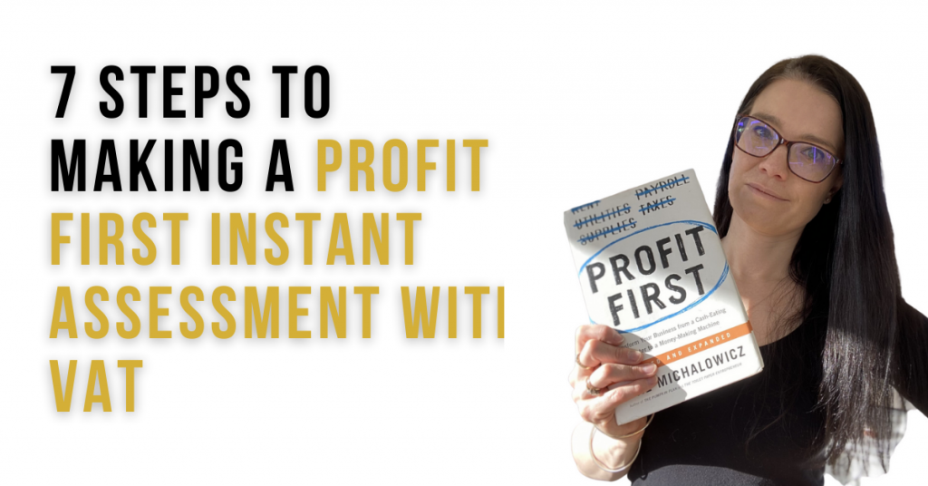 a blog featured iamge entitled 7 Steps to Making a Profit First Instant Assessment with VAT