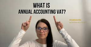 a blog featured image entitled what is annual accounting vat